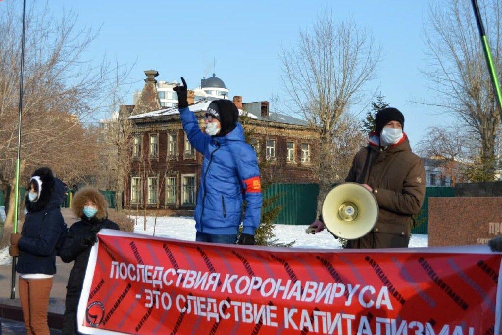 «Хватит Путина продлять»: барнаульцы вышли на митинг против развала медицины КПРФ,медицина,митинг,общество,россияне