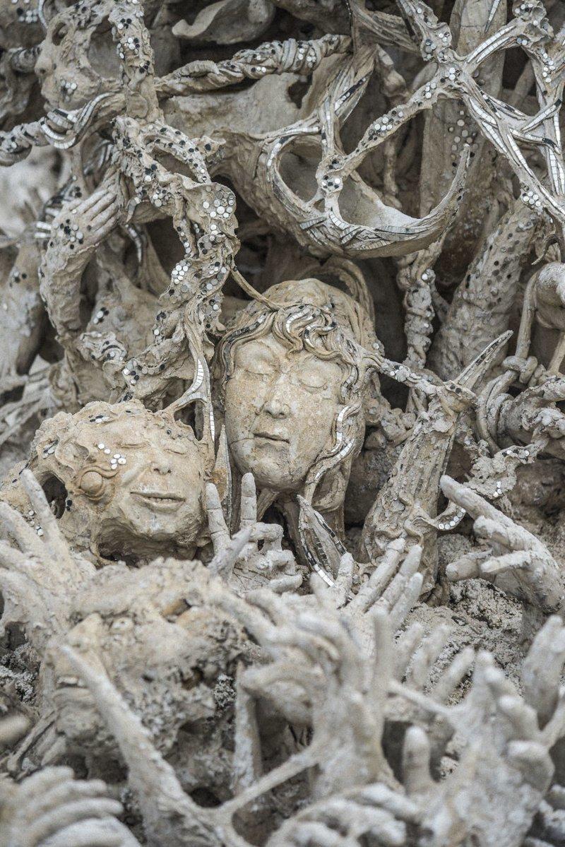 Рай и ад: причудливый Белый храм в Таиланде архитектура, буддизм, достопримечательность, путешествие, таиланд, фотомир, храм