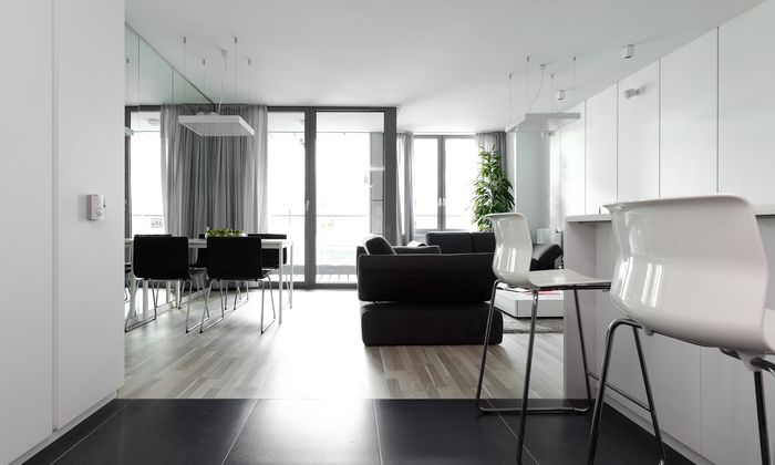 Кухня, открытая в коридор. Как правильно соединить два интерьера интерьер и дизайн