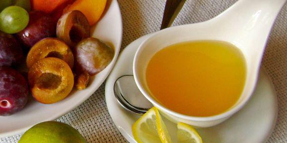 диетические соусы: лимонно-медовая заправка с уксусом