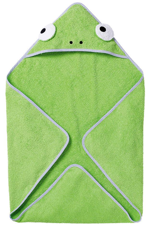 Банное полотенце и махровая рукавичка для малыша своими руками