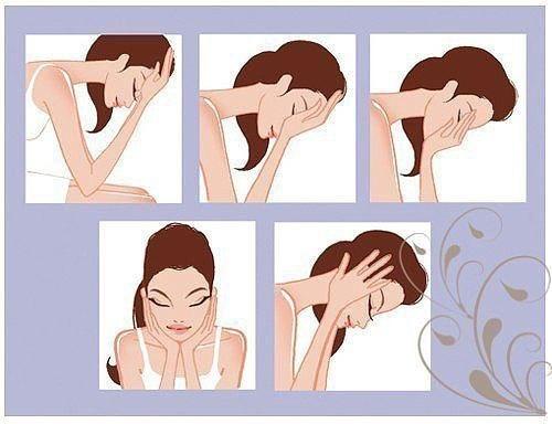 Помощь при утренних отеках — массаж.