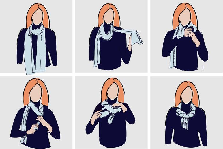 как завязывать платок