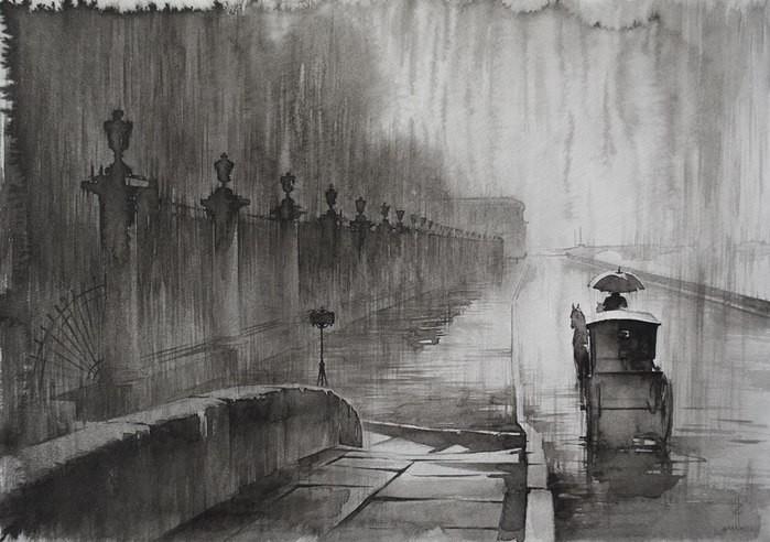 Санкт - Петербург на картинах Олега Ильдюкова