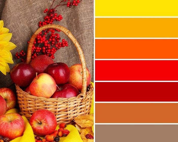 как сочетать цвета и оттенки