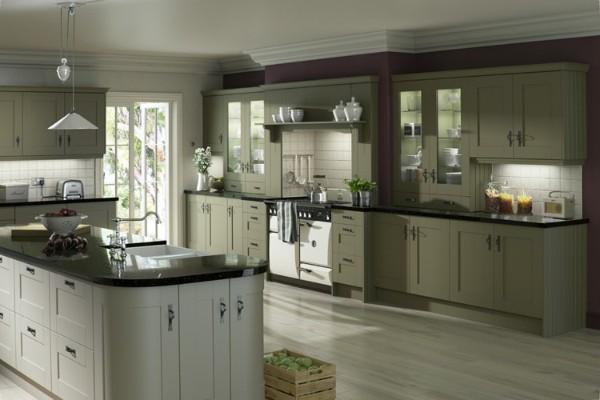 серый и светло серый цвет фасада кухни