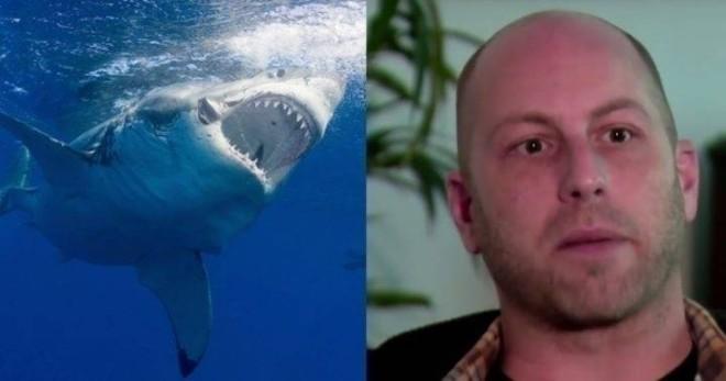 Акула начала охоту на пловца, но в результате спасла ему жизнь