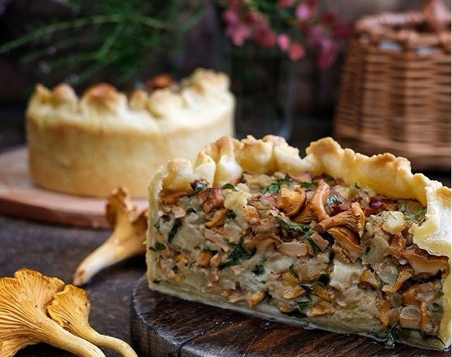 Вкуснятина: пирог с грибами,…