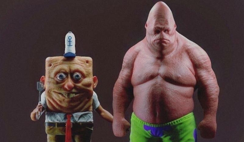 Сюр дня: иллюстратор превратил Губку Боба и Патрика в реальную крипоту