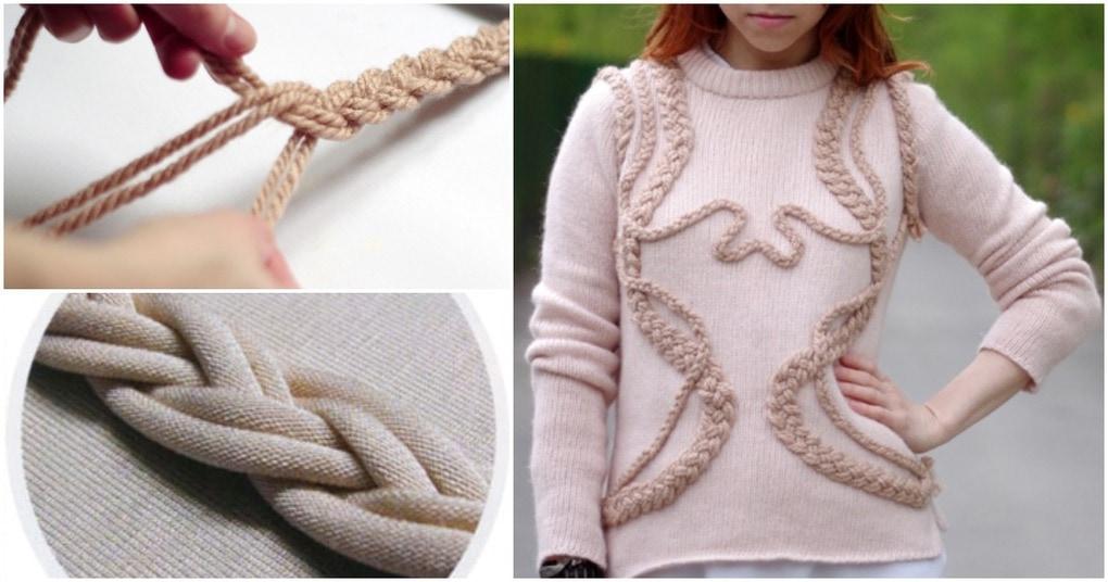 Декоративные косы, которые позволят вам стильно обновить одежду