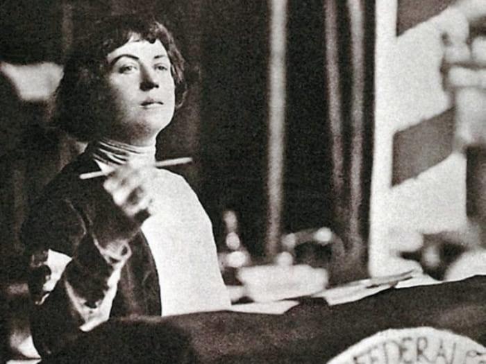 Идеолог свободной любви Александра Коллонтай.