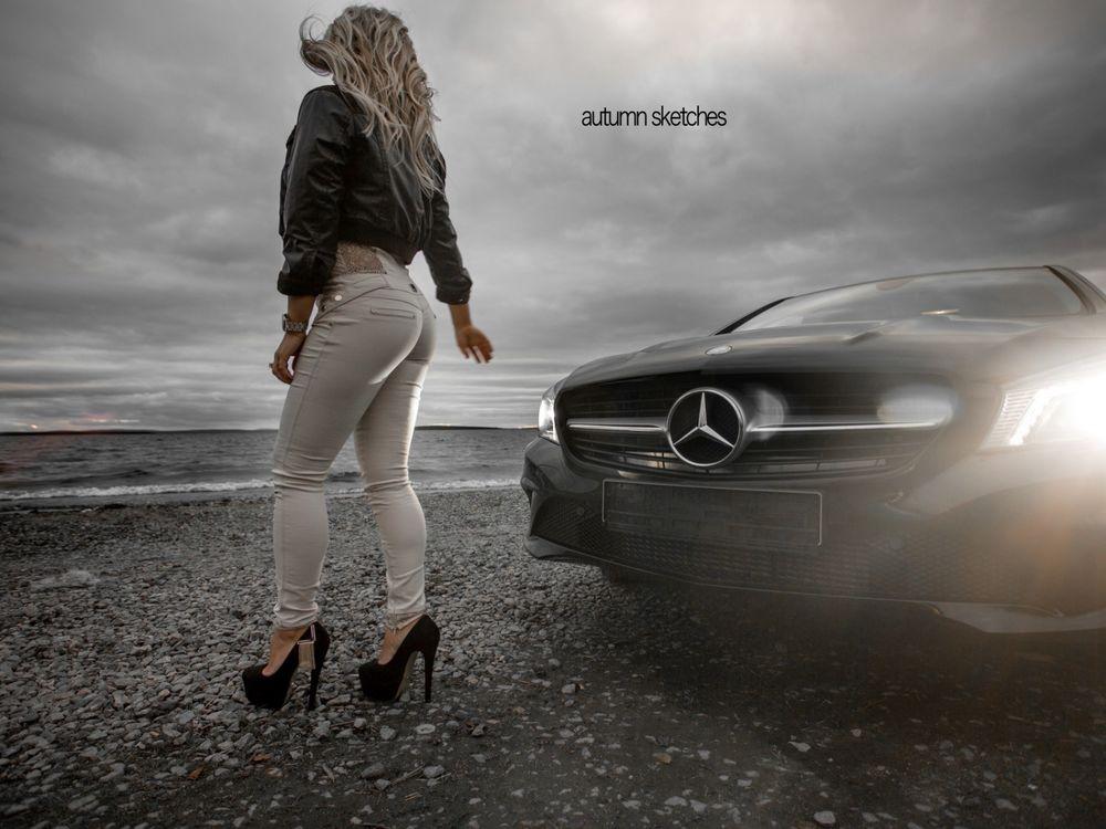 Про блонди за рулем женщины