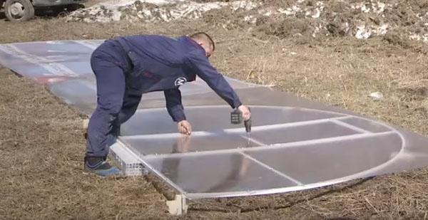 Теплица с открывающейся крышей: виды и конструкции, самостоятельная установка сделай сам