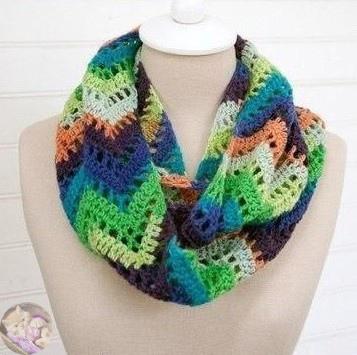 Узоры для шарфа или снуда крючком и спицами