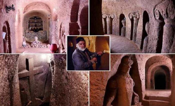 За 23 года армянин превратил погреб в пещеру глубиной в 9-этажный дом, используя лишь молоток и зубило