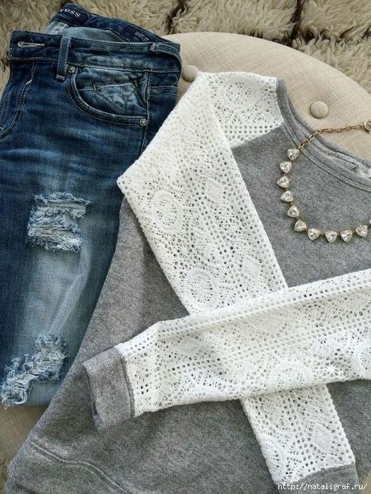 Обновляем одежду своими руками: Идеи переделки блузок и футболок