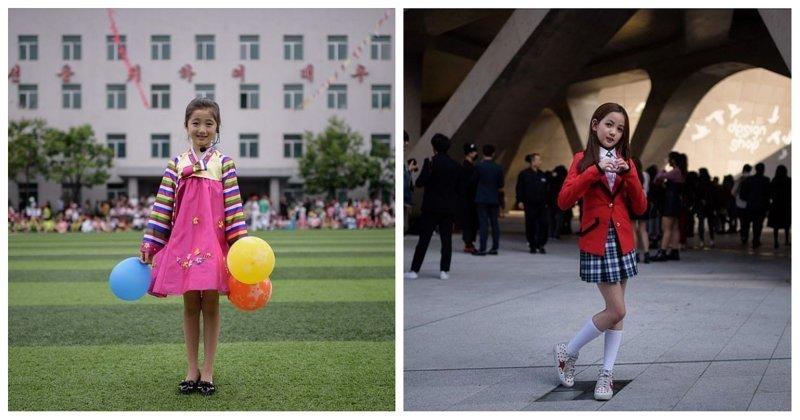 Фотограф показал сходства и различия Северной и Южной Кореи кндр, люди, северная корея, сравнение, страны, южная корея