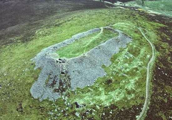 Загадочные сооружения, форт, Шотландия, стекло