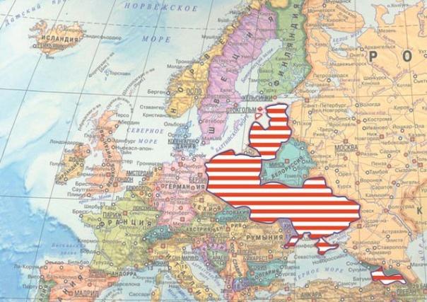 От моря, до моря против РФ геополитика