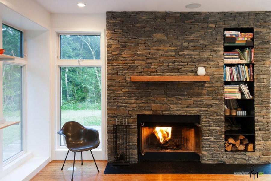 Использование камня в дизайне интерьера загородного дома