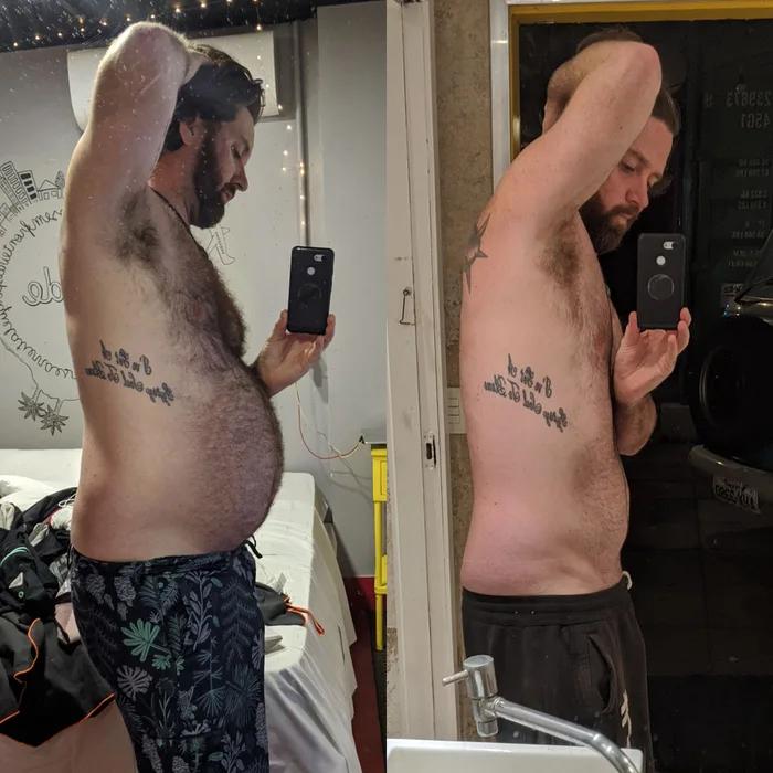 Полный мужчина был в самоизоляции 75 дней. Стал тренироваться, вести здоровый образ жизни и выложил фото изменений Культура