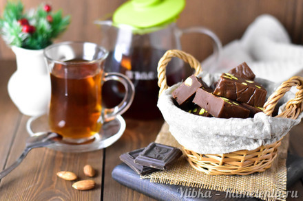 Приготовление рецепта Шоколадная помадка к чаю шаг 8