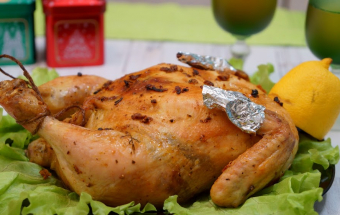 Фаршированная курица на праздничный стол!