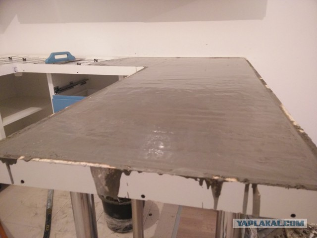 Рукоделия пост! Столешница из бетона своими руками, ну и раковина бетон