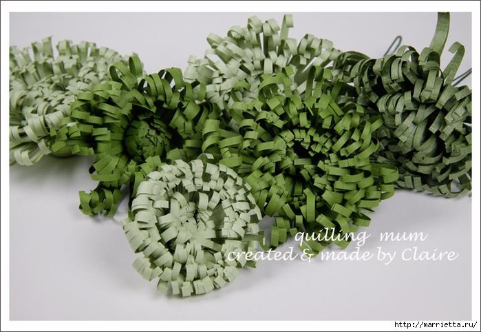 Хризантемы из бумаги. Фото мастер-класс (1) (700x482, 264Kb)