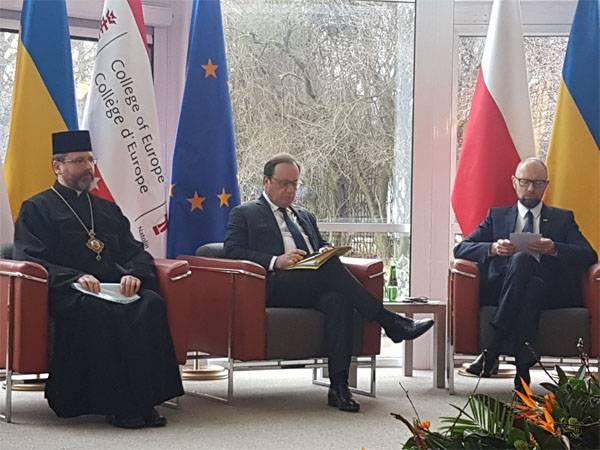 """Яценюк в Варшаве: """"Северный поток-2"""" - угроза для Европы"""