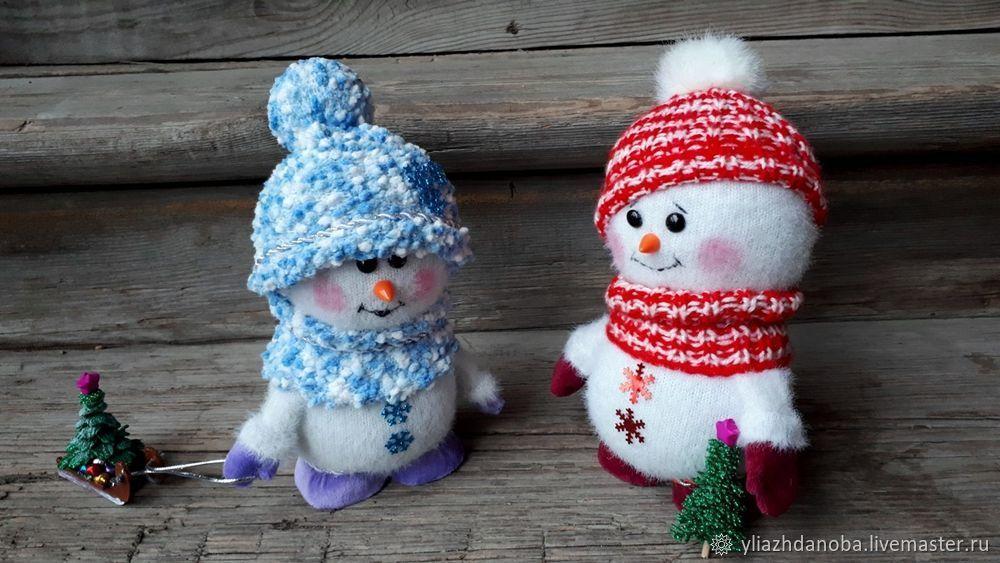 Делаем снеговика игрушки,мастер-класс