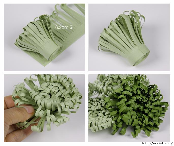 Хризантемы из бумаги. Фото мастер-класс (12) (685x575, 258Kb)