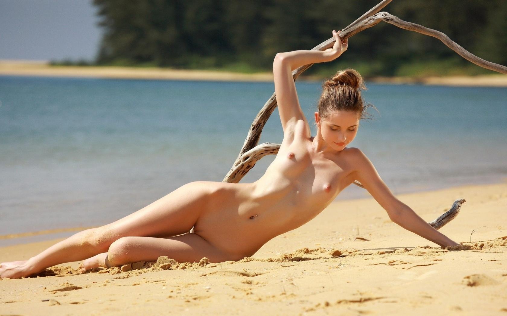Russian nudist beach babe