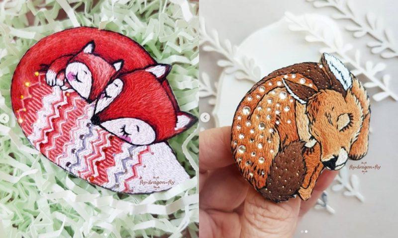 Думаете, вышивать можно только нитками? Вовсе нет! Невероятные красивые работы мастерицы из Омска Ольги Мухиной.