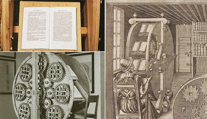 Книжное колесо – изобретение XVI века