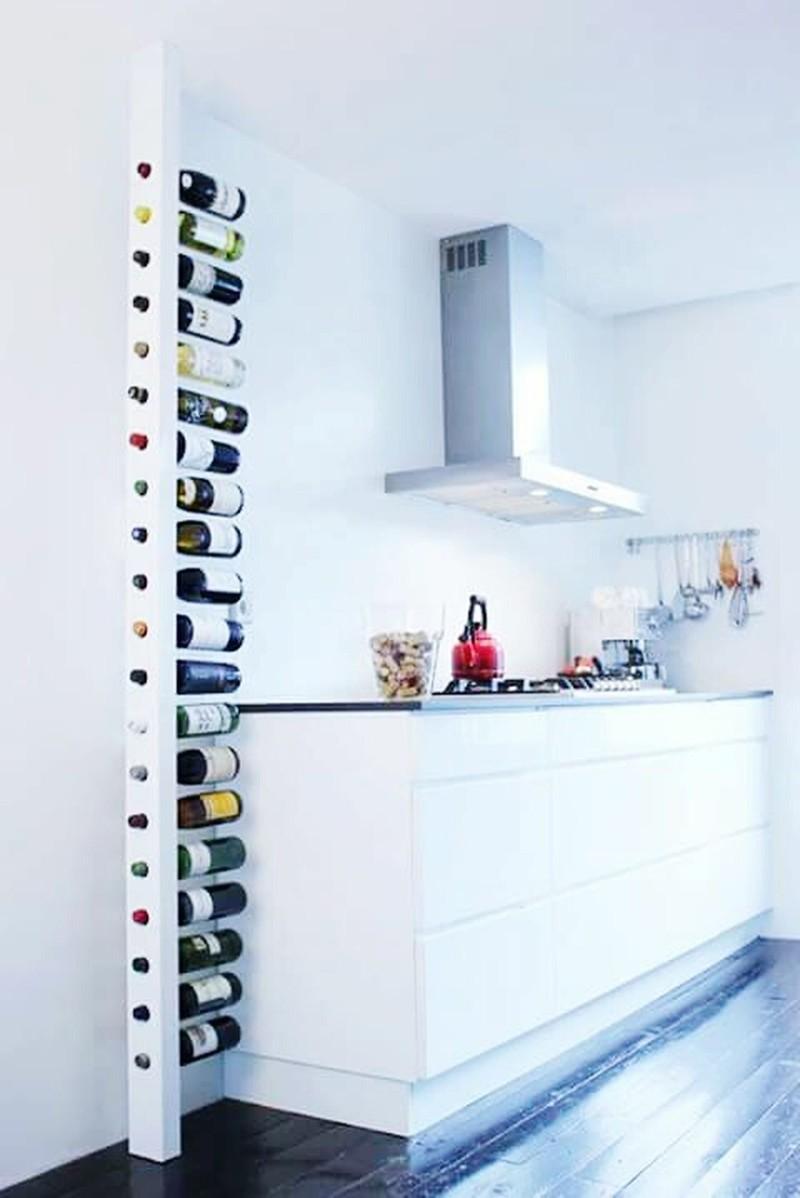 Для любителей винищка- вариант хранения дизайн, интерьер, маленькая кухня, полезные советы для дома, фото