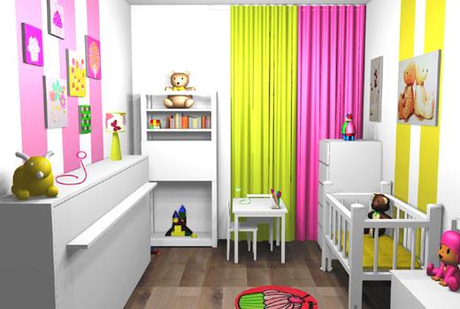 Украшения полосы на стенах в детской