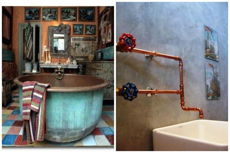 Можно даже целую емкость для теста где-то найти - прекрасная ванная. И конечно же экономим на смесителях Фабрика идей, ванная, дизайн, сделай сам, тазики, фантазия