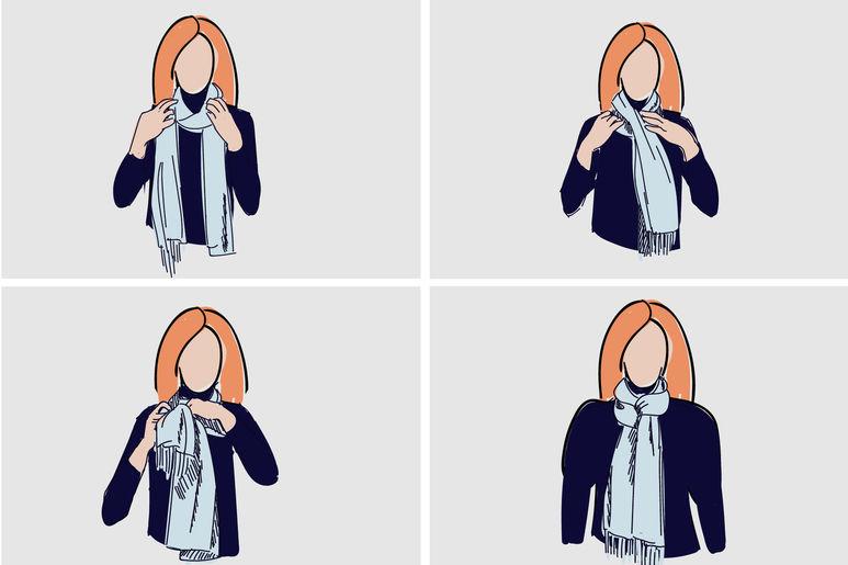 фото способы завязывать платок
