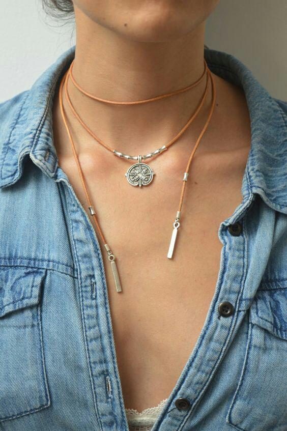 Простые кантри ожерелья