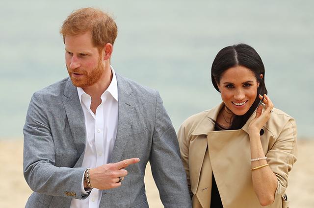Принц Гарри и Меган Маркл посетили Мельбурн и прогулялись по пляжу