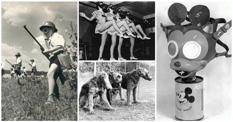 Газовый мир: 25исторических фото, вкоторых присутствует противогаз