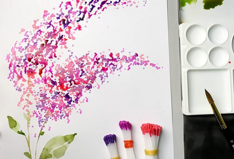 Рисование при помощи ватных палочек ватные палочки,Хенд мейд