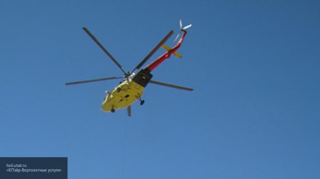 В Красноярском крае произошло крушение вертолета