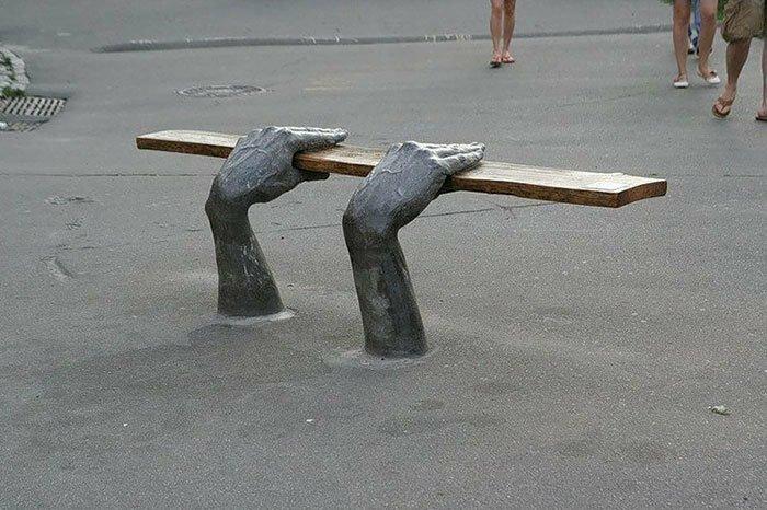 Скамейка в Киеве, Украина в мире, в парке, красота, креатив, лавочка, скамейка, удобство, фантазия
