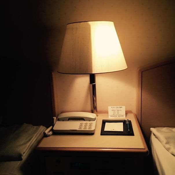 This Bedside Lamp At My Hotel In Japan Can Be Half Lit