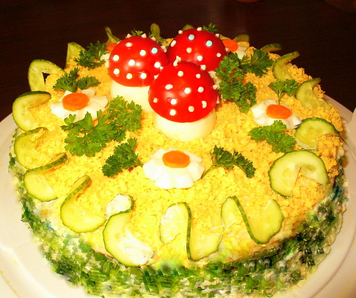 """Зкусочный торт """"Лесная поляна """".Фото -Рецепт Olga Dell"""