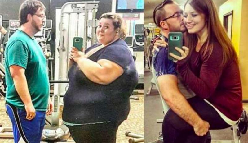Совместное похудение улучшает отношения: пара сбросила 180 килограммов ради любви