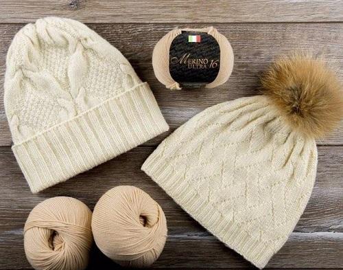 2 красивых узора для вязания шапок