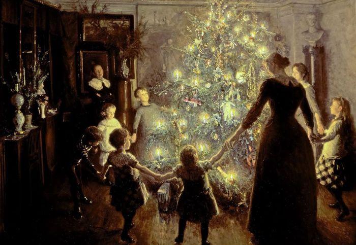 Как новогодняя елка прижилас…